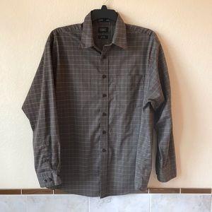 Haggar Mens No Iron Long Sleeve Shirt Pinstripes